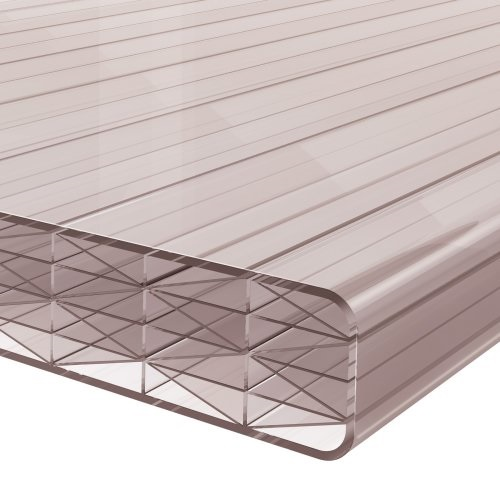 4M x 1045mm Finest 25mm Polycarbonate Sheet Bronze