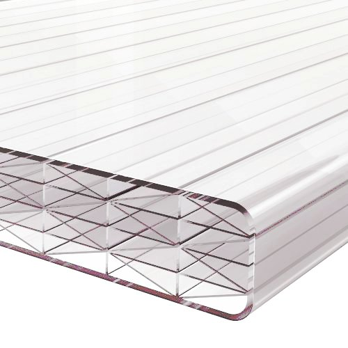 6M x 980mm Finest 25mm Polycarbonate Sheet Clear