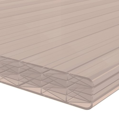 1.0M x 695mm 16mm Finest Polycarbonate Sheet Bronze