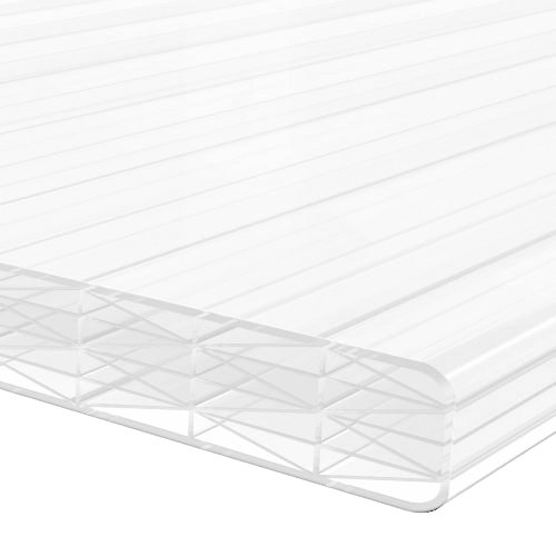 1.0M x 695mm 16mm Finest Polycarbonate Sheet Opal/White