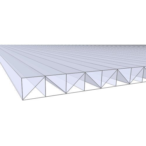 5.0Mx980mm 16mm Polycarbonate Roofing Clear W-From