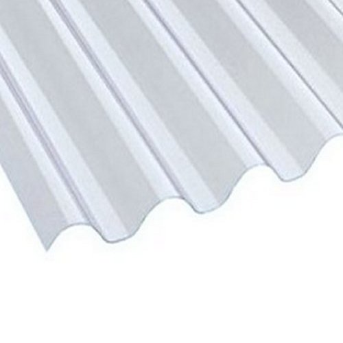 2440mm (8 ft) 1.3mm 10 Star Big 6 Corrugated PVC Clear