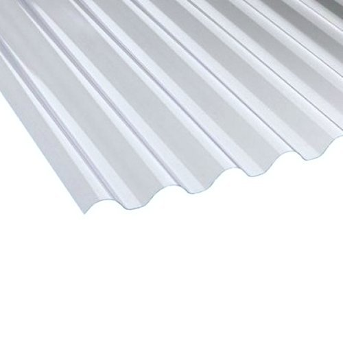 "2140mm (7 ft) 1.3mm 10 Star 3"" Clear PVC Corrugated Roofing Sheet"