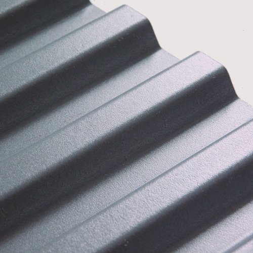 "1.82M x 1090mm (6'0"") 1.1mm Box PVC Corrugated Light Grey"