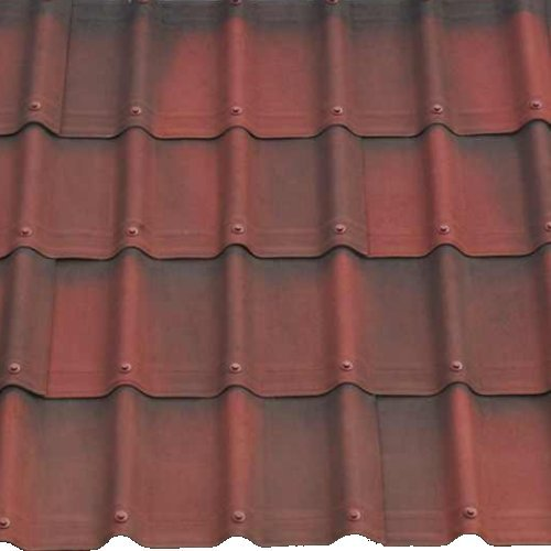 1.06M x 0.4M Onduvilla Tile Strip Shaded RED