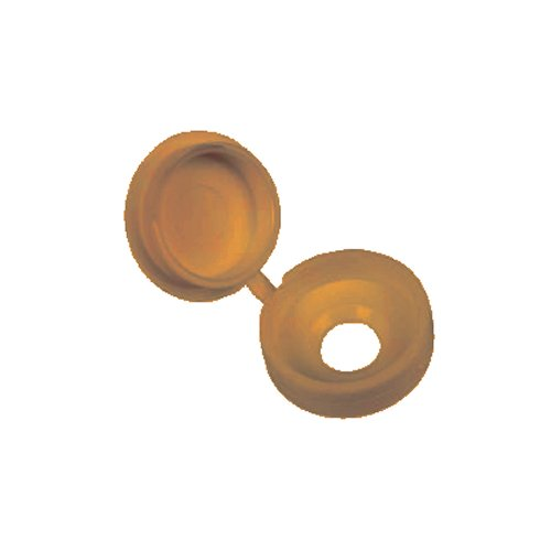 Screw Cap Cover Small Hinged Caramel (25PK)