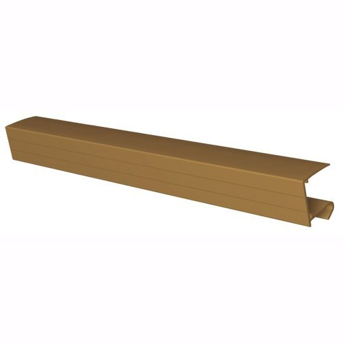 980mm x 25mm Polycarbonate Sheet End Closure Brown