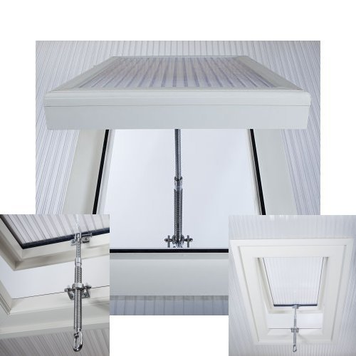 16mm Polycarbonate Roof Vent Window PVC White 550mm x 750mm