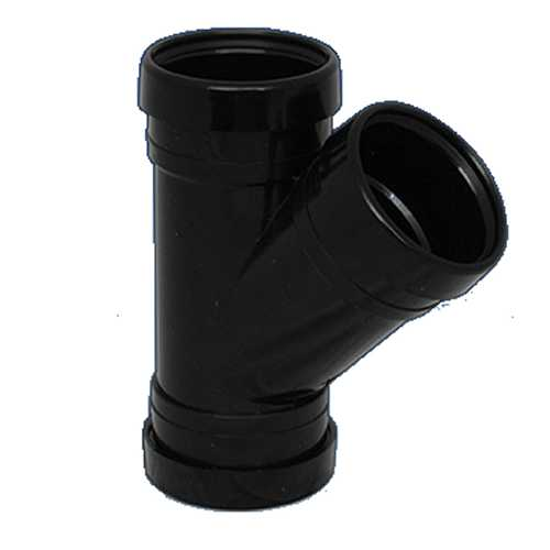 110mm x 135 deg Y Branch - Triple Socket BLACK