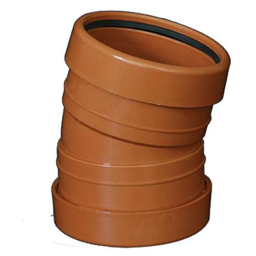110mm x 15deg Bend Underground Drainage - DOUBLE SOCKET