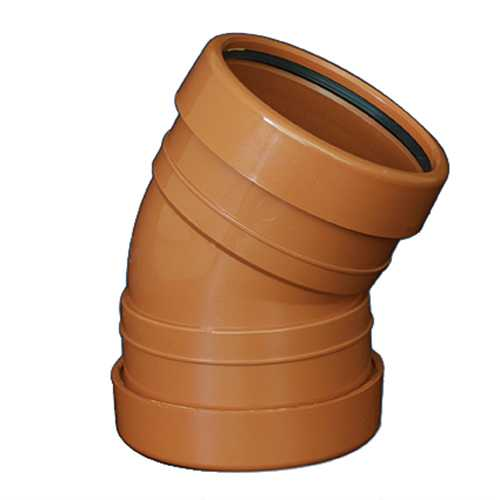 110mm x 30deg Bend Underground Drainage - DOUBLE SOCKET