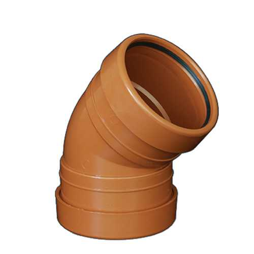 110mm x 45deg Bend Underground Drainage - DOUBLE END