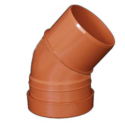 110mm x 45deg Bend Underground Drainage - SINGLE END