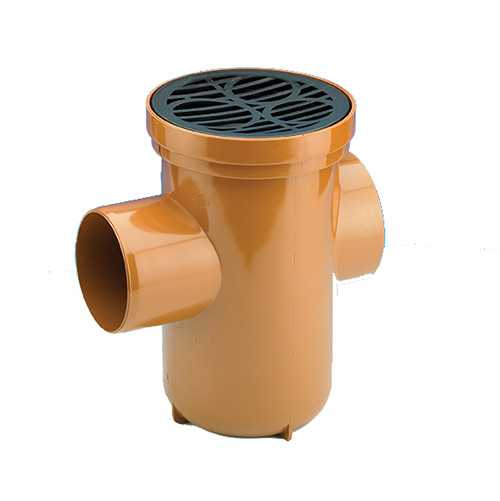 110mm Back Inlet Rodable Gully Underground Drainage