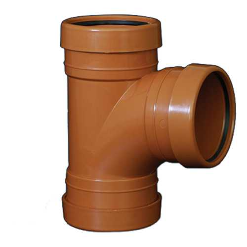 110mm 87.5deg T Branch Underground Drainage - TRIPLE SOCKET