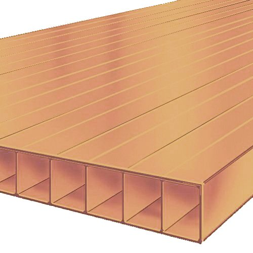 2M x 1047mm Bonus 10mm CLEARANCE Polycarbonate Sheet Bronze