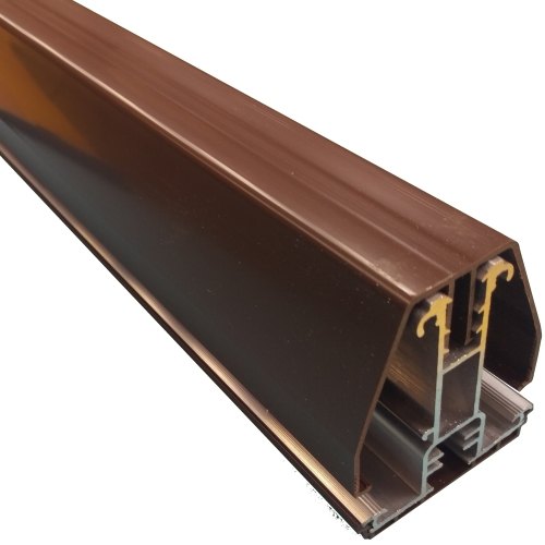 2M York7L Self Support Glazing Bar for 16mm Poly Brown