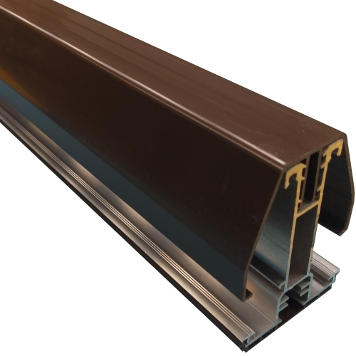 4M York8L Self Support Glazing Bar for 25/35mm Poly Brown