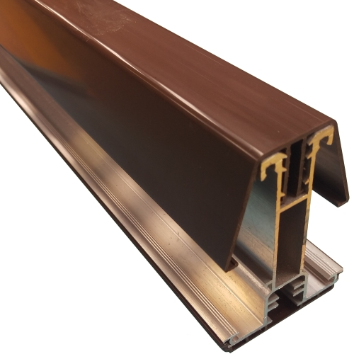 2.5M York8S Self Support Glazing Bar for 40/50mm Poly Brown