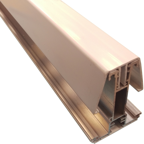 2.5M York8S Self Support Glazing Bar for 40/50mm Poly White
