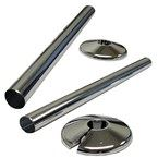 15mm Snappit Kit Contains 2 x 200mm Snappit & 2 x Pipe Collars Chrome