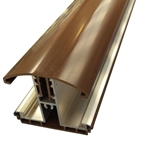 2.0M Avon Glazing Bar for 35 / 40mm Polycarbonate Brown