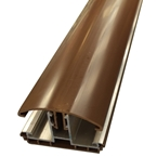 2.5M Avon Polycarbonate Glazing Bar for 16/25mm Brown