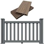 Decking Fence kit 1.5M Long Antique Ash