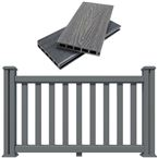 Decking Fence Kit 1.8M Long Ancient Black