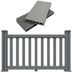 Decking Fence Kit 1.5M Long Salt Lake Silver