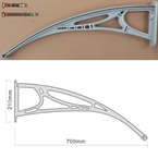700mm Projection Door Canopy Arm Grey