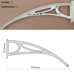 700mm Projection Door Canopy Arm White