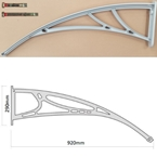 920mm Projection Door Canopy Arm Grey