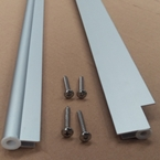 1200mm Door Canopy Front & Back Rails Aluminium