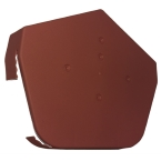 Dry Verge Angled Ridge Cap in Terracotta