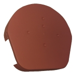 Dry Verge Round Ridge Cap in Terracotta
