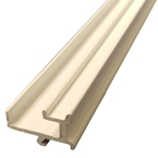 2.5M x 6 &10mm End Bar Infill White (Glazing Bar Edge Bead)