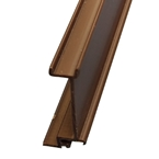 3M x 35mm End Bar Infill Brown (Glazing Bar Edge Bead)
