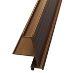 2M x 40mm End Bar Infill Brown (Glazing Bar Edge Bead)