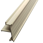 6M x 40mm End Bar Infill White (Glazing Bar Edge Bead)