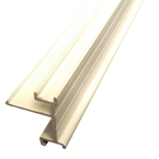 3.5M x 25mm End Bar Infill White (Glazing Bar Edge Bead)