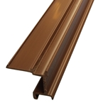 6M x 16mm End Bar Infill Brown (Glazing Bar Edge Bead)