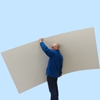 3mm PVC Sheet 2440mm x 1220mm (8ft x 4ft) Hygienic Wall Cladding White