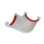 Round Gutter Angle 90°  White