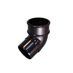 Round Downpipe 112° Offset Bend Black