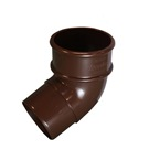 Round Downpipe 112° Offset Bend Brown