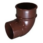 Round Downpipe 92° Offset Bend Brown
