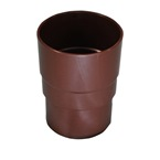 Round Downpipe Connector Brown