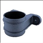 Down Pipe Clip Collar Cast Iron Effect Black