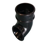 Round Downpipe Shoe Outlet Black